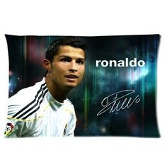Custom Real Madrid CF Superstar Cristiano Ronaldo CR7 Pillowcase Soft Zippered Throw Pillow Cover Cushion Case Covers Fasfion Design Two Sides Printed 20x26 Inches >>> Additional details at the pin image, click it  : DIY : Do It Yourself Today