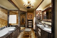 The very ornate typical bathroom at the 5 star Grand Bretagne hotel in Athens, Greece