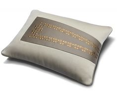 Obi Beading | Aiveen Daly | These cushions are divine. Simplicity and structure combine in an almost architectural fashion.  I'd be too scared to rest against them!!