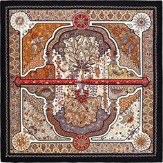 La Maison des Carrés Hermès | Aux Portes du Palais Shawl in cashmere and silk (140 x 140 cm) Ref. : H242456S 03