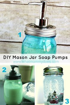 Looking for easy DIY craft projects to sell? Here's a list of 13 things to make with mason jars! Grab the tutorials on the blog! These mason jar soap pumps are awesome & popular with everyone...I even have two of them in my house! I love them because you can make them at home in your spare time then sell the products at craft fairs, on Etsy, or even Ebay. http://www.whatmommydoes.com…