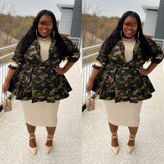Plus Size Fashion Blog, Plus Size Fashion For Women, Curvy Women Fashion, Diva Fashion, Plus Size Women, Sweet Fashion, Camo Fashion, Sunday Outfits, Weekend Outfit