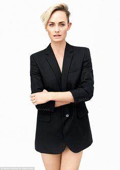 Model citizen: In a new interview with the Editorialist, Amber Valletta (wearing a Saint Laurent by Hedi Slimane jacket) reveals the inspiration behind her new business venture, Master & Muse