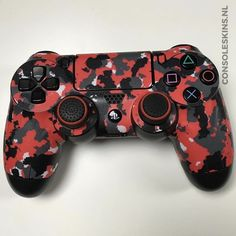 Army Red Controller Skins - Playstation - Ideas of Playstation