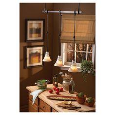 Saratoga Pendant Rail Kit by Sea Gull Lighting #lighting #kitchen #kitchenlighting #kitchendecor #pendantlighting #ambiance #SeaGullLighting