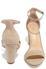 Cute Blush Heels - Ankle Strap Heels - Blush Shoes - $49.00
