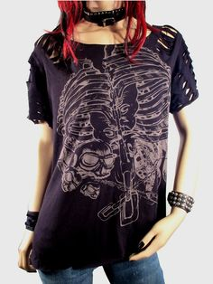 Shredded And Destroyed Rib Cage and Skulls Graphic by Rebeltude, $28.00