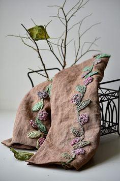 Linen scarf by Natalia Kononova