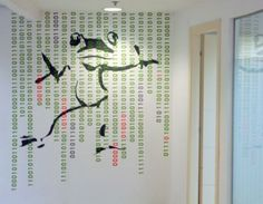 Custom design wall decals by Studio Luka - Jfrog offices