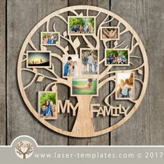 Photo Frame - Ideas That Produce Nice Photos Irrespective Of Your Abilities! Family Tree Photo, Family Tree Frame, Photo Tree, Creative Photo Frames, 3d Laser Printer, Gravure Laser, Cnc, Photo Frame Design, Laser Cutter Projects