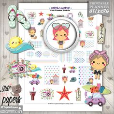 Swimming Planner Stickers by www.YupiYeiPapers.etsy.com