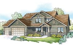 Brand new Craftsman house plan featuring a guest suite, bonus room, open concept living, and a large covered rear patio.