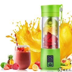 Smoothie Boss™ Portable USB Juicer (Rechargeable) ) ) Enjoy fresh fruit juice on the go! This Portable and Rechargeable USB Electric Juicer Bottle Blender doubles as a juicer and bottle. You can now make a sm Smoothie Mixer, Smoothie Fruit, Smoothie Recipes, Milkshake Blender, Smoothie Machine, Vodka Recipes, Cake Recipes, Juicing With A Blender, Juicing For Health