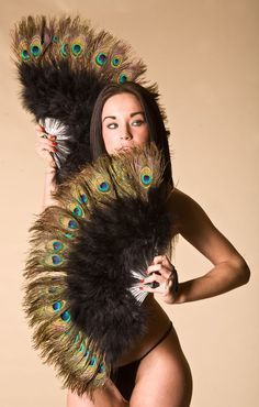 Peacock Feather Fan, Feather Fan, Buy 2 & Get Tassles