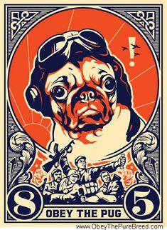 #troistone #tshirt #handmade #design #unique #fashion #puglife #obey #pug #aviator #funny #cute