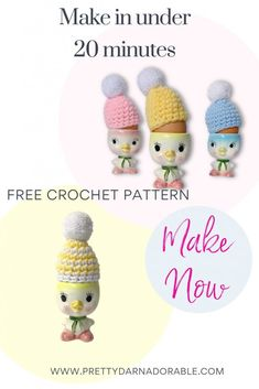 Make these adorable crochet egg cozies in under 20 minutes! These crochet egg cozies will make your table look festive and sweet even at the last minute. So if you are looking for a really cute, fast and easy Easter crochet project, then this is it! Heck these really are great to use anytime! Raid your scrap bin and get ready to have fun! #eastercrochetproject #crocheteggcozy #beginnercrochet Crochet Egg Cozy, Free Crochet, Crochet Hats, Easter Crochet Patterns, Amigurumi Patterns, Easter Crafts, Easter Decor, Pom Pom Maker, Egg Holder
