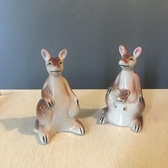 Kangaroo Couple Salt and Pepper Shakers
