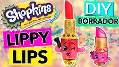 BORRADOR casero en forma de labial * SHOPKINS Lippy Lips
