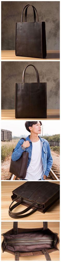 Handmade Crazy Horse Leather Tote Bag, Shopping Bag, Leather Shoulder Bag For Women 0669