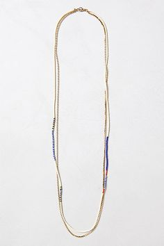 Anthropologie layering necklace. This one could be a fun DIY!