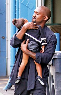 Kanye and North West Kim Khloe Kourtney, Kim Kardashian And Kanye, Kardashian Jenner, Kylie Jenner, Black Fathers, Fathers Love, North West Saint West, Kanye West Songs, Kim And North