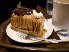 Drooling... It's Mont Blanc Chestnut Cake!!!