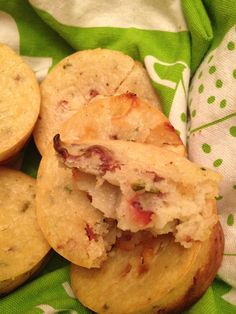 White Cheddar, Bacon & Chive Muffins  From The Crafty Hostess