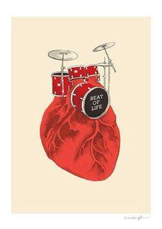 Batería corazón