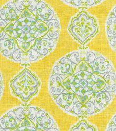 Home Decor Print Fabric-Dena Mirage Medallion Citrus