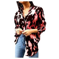 Mfasica Men Autumn Regular-Fit Long-Sleeve Lapel Gilded Work Shirt