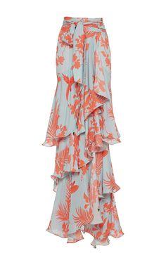 JOHANNA ORTIZ Costa Pacifica Tiered Long Skirt. #johannaortiz #cloth #skirt