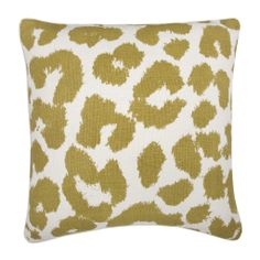 { Leopard Pillow in Ochre }