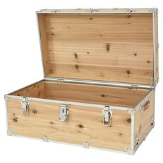 Rhino Large Rhino Cedar Trunk - 14 and trunks including camp, college, decorative, rhino trunks, shipping cases and accessories from Trunkoutlet. Woodworking Furniture Plans, Diy Woodworking, Trunks For Sale, Diy Log Cabin, Camp Trunks, Trunk Furniture, Wood Tool Box, Pallet Chest, Trunks And Chests