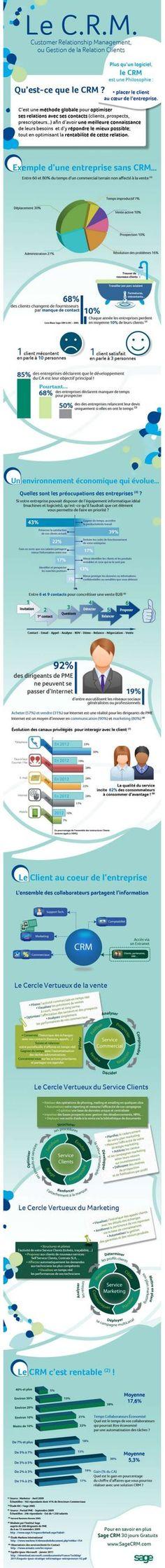 infographie : #CRM et marketing: font-ils bon ménage?
