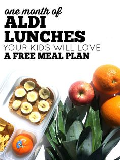 Do you make lunches for you kids? If your goal is to make good food on a  budget, we have the meal plan for you! We take all the guesswork out of  lunch making. We created this FREE lunch plan with food your kids with love  all from Aldi. We have meal planning downloads, lunch ideas, and our best
