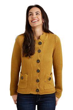 Pure Handknit Fair Trade Fancy Cardigan - Sweaters - Women
