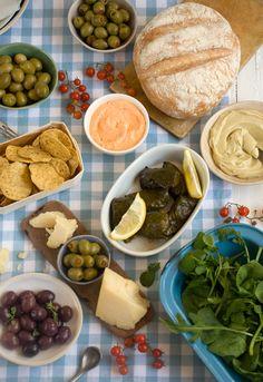 a mediterranean delicacies meze lunch