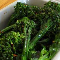 Broccolini With Chili Flakes And Vinegar