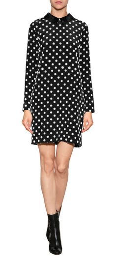 A mod choice for day or night, Victoria, Victoria Beckham's polka dot shift lends eye-catching style and a fun finish to your look #Stylebop