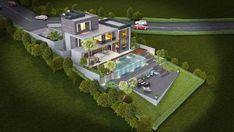 Urla Kekliktepe Villa – İzmir – Vero Concept Mimarlık Model House Plan, House Plans, Modern Villa Design, House Elevation, Verona, Home Projects, New Homes, House Design, Concept