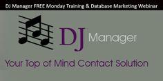 Same EMail, Different Client...  Tired of writing the same EMail over and over again?  50 clients last year, each received the same confirmation email, appointment reminder email, thank you email...  That's a LOT of repetition. A good database program can eliminate that duplication, save you time and money. [Smile]  DJ Manager FREE Monday Training & Database Marketing LIVE webinar today 2/6/17 @ 5PM.  For DJ Manager users \ other database systems. Come with your questions and learn. Stay…