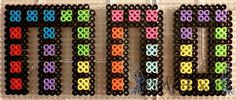 Tetris Letters - M, N, O by PerlerPixie.deviantart.com on @DeviantArt