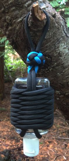 Paracord Germade wrapped 1 once hand sanitizer and by StickOnU, $8.00