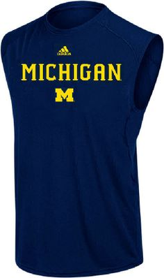 Michigan Wolverines Climalite Sleeveless Top by Adidas $25.00
