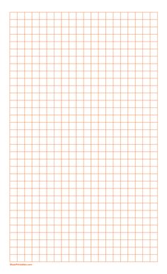 Printable 3/8 Inch Orange Graph Paper for Legal Paper Printable Graph Paper, Free Printables, Orange, Free Printable