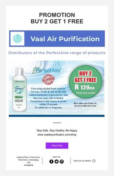 PROMOTION  BUY 2 GET 1 FREE Got 1, Moisturiser, Air Purifier, Stay Safe, Hand Sanitizer, Dry Skin, How To Stay Healthy, Promotion, Alcohol