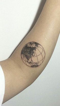 globe tattoo || pinterest: lovelydasani ||