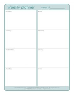 This Printable Weekly Calendar Covering Two Weeks Is On Letter