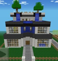 A minecraft house. Even though it is a game-designed idea, it is suprisingly realistic. Minecraft Houses For Girls, Minecraft Houses Xbox, Minecraft House Tutorials, Minecraft Houses Blueprints, Minecraft House Designs, All Minecraft, Minecraft Creations, Minecraft Crafts, Minecraft Party