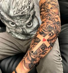 Family Sleeve Tattoo, Cloud Tattoo Sleeve, Half Sleeve Tattoos Forearm, Geometric Sleeve Tattoo, Skull Sleeve Tattoos, Quarter Sleeve Tattoos, Half Sleeve Tattoos For Guys, Full Sleeve Tattoo Design, Best Sleeve Tattoos